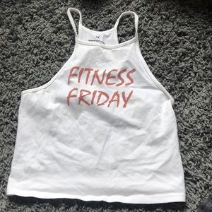 Fitness Friday crop top